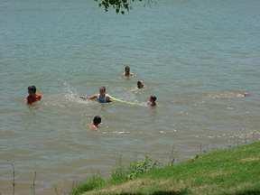 Swimming in the Llano River