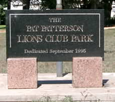 Lions Club Park in Kingsland, Texas