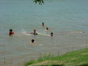 Swimming in the Llano River